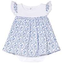 Petit Bateau Flower Dress Blue