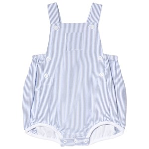 Image of Petit Bateau Blue and White Seersucker Romper 1 Month (3017745351)
