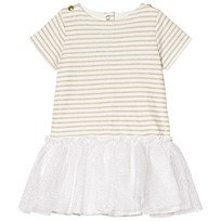 Petit Bateau Striped Dress White