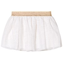 Petit Bateau White and Gold Tulle Skirt