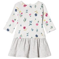Petit Bateau Flower Dress Grey