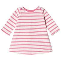 Petit Bateau Striped Dress Pink