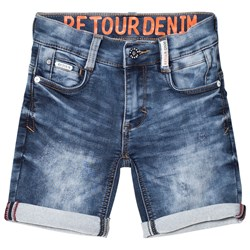 Retour Loeak Denim Shorts Vintage Blue