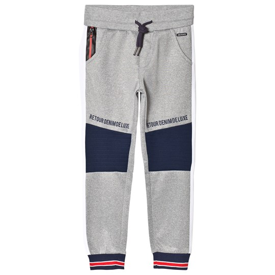 Retour Abel Sweatpants Grey Light Grey Melange