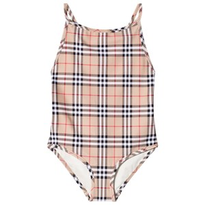 Image of Burberry Vintage Check One-Piece Swimsuit Camel 4 years (3017742667)
