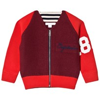 Burberry Burgundy Merino Wool and Cotton Baseball Jacket Burgundy