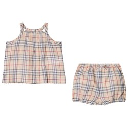 Burberry Check Two-Piece Baby Gift Set Pale Stone