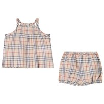 Burberry Check Two-Piece Baby Gift Set Pale Stone Pale Stone