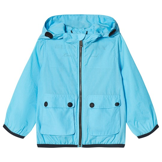 Burberry Showerproof Hooded Mini Jacket Bright Turquoise BRIGHT TURQUOISE