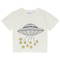Mini Rodini UFO T-shirt Off White Offwhite