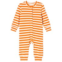 Mini Rodini Randig Ribbad Bodysuit Orange Orange