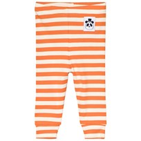 Mini Rodini Randiga Ribbade Leggings Orange Orange
