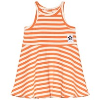 Mini Rodini Stripe Rib Tank Dress Orange Orange