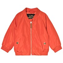Mini Rodini Space Cat Baseball Jacket Red Red