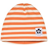 Mini Rodini Stripe Rib Beanie Orange Orange