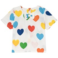 Mini Rodini Rainbow Love Vävd Blus Vit White