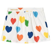 Mini Rodini Rainbow Love Woven Skirt White White