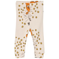 Mini Rodini Cat Advice Leggings Beige Beige