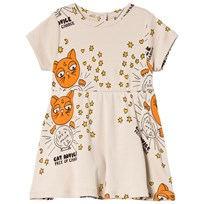 Mini Rodini Cat Advice Dress Beige Beige