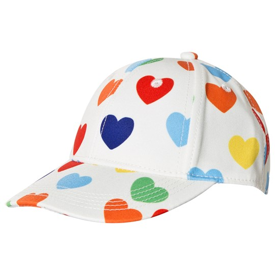 Mini Rodini Rainbow Love Cap White White