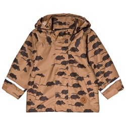 Mini Rodini Edelweiss Mouse Jacket Brown