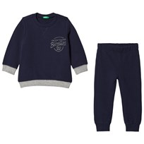 United Colors of Benetton Sweater and Trousers Set Navy Laivastonsininen