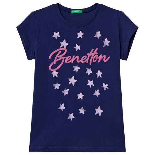 United Colors of Benetton T-shirt Denim Blue Denim Blue