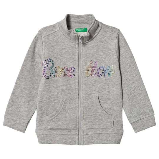 United Colors of Benetton Branded Grey Melange Sweatshirt Grey Melange