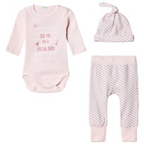 United Colors of Benetton Layette Set Pink Pink
