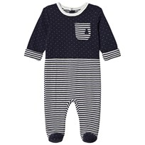 United Colors of Benetton Navy Footed Baby Body Marinblå