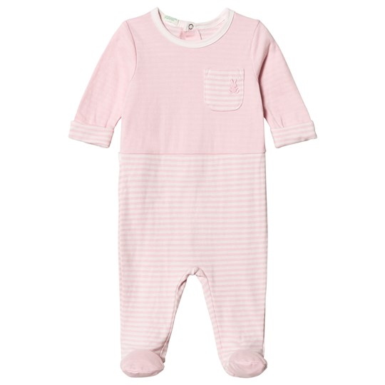 United Colors of Benetton Pink Footed Baby Body Pink
