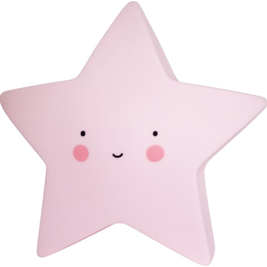 A Little Lovely Company Mini Star Night Light Pink Pink