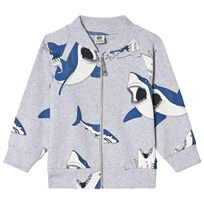 Småfolk Grey Mix Multi Sharks Print Jacket 236