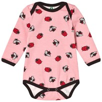 Småfolk Pink Multi Ladybirds Baby Body 502 Blush