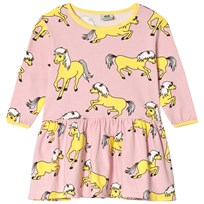 Småfolk Pale Pink Bananas Print Dress 508