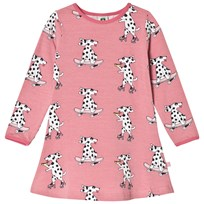Småfolk Pink Cool Dog Print Dress 502