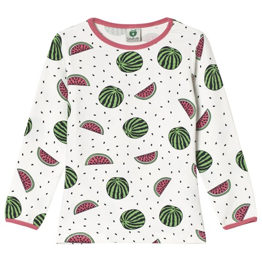 Småfolk Cream Multi Watermelon Print Tee 199