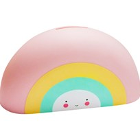 A Little Lovely Company Rainbow Money Box Multi