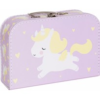 A Little Lovely Company Unicorn Suitcase Multi