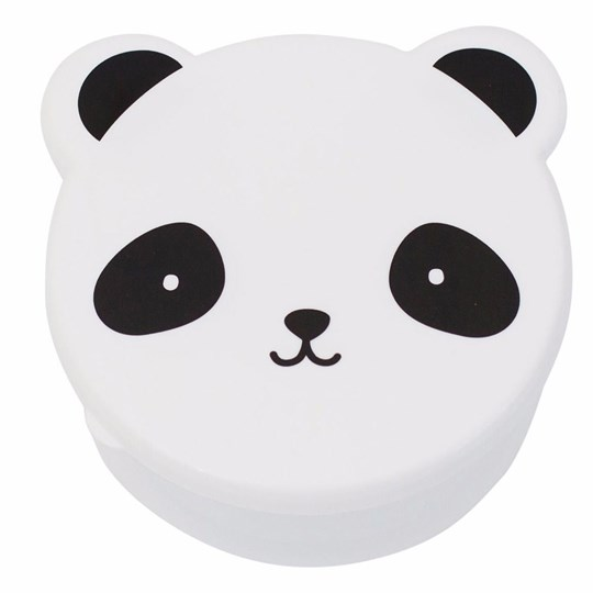 A Little Lovely Company Panda Snack Box Set White