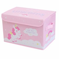 A Little Lovely Company Pop-Up Storage Box Unicorn Black