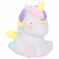 A Little Lovely Company Unicorn Table Light Black