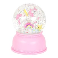 A Little Lovely Company Unicorn Snow Globe Pink