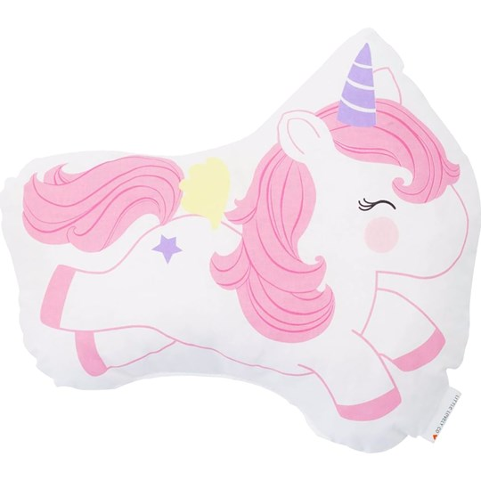 A Little Lovely Company Jumping Unicorn Cushion Pink