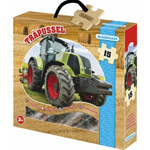 Image of Egmont Kärnan Tractor Wood Puzzle 3+ years (3018747181)
