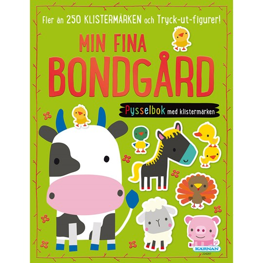 Egmont Kärnan Farm Animals Colouring Book & Puzzle Book 2 Pack Green