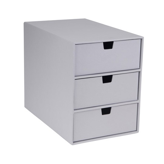 bigso box of sweden ingrid 3 drawer chest silver grey. Black Bedroom Furniture Sets. Home Design Ideas