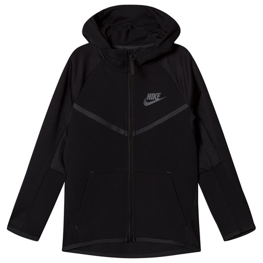 NIKE Black Nike Sportswear Tech Fleece Windrunner Hoodie
