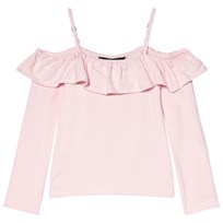 Ralph Lauren Off the Shoulder Top med Krås Rosa 001