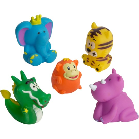 rattstart 5 Pcs Bath Toy Circus Animals Multi
